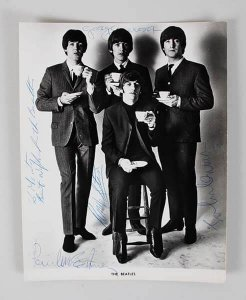 Beatles Signed 8x10, beatles signed photo
