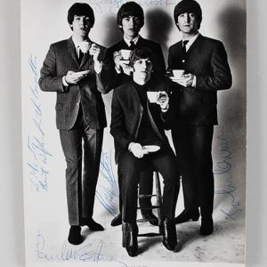 Beatles Signed 8x10, beatles signed photo