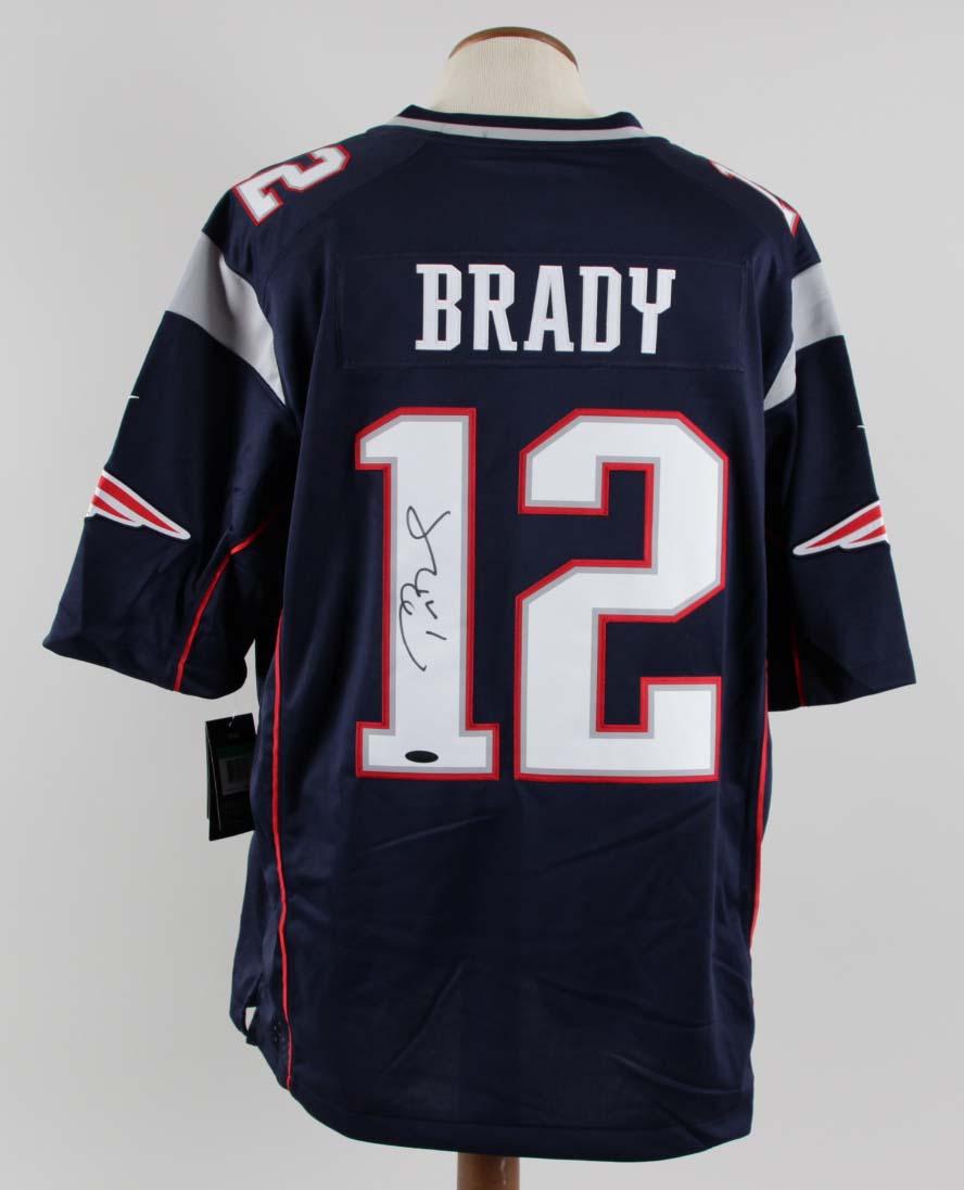 Tom Brady Signed Jersey Patriots - COA TriStar