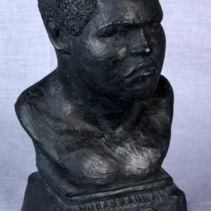 1979 Muhammad Ali Ceramic Bust by Billy Burns