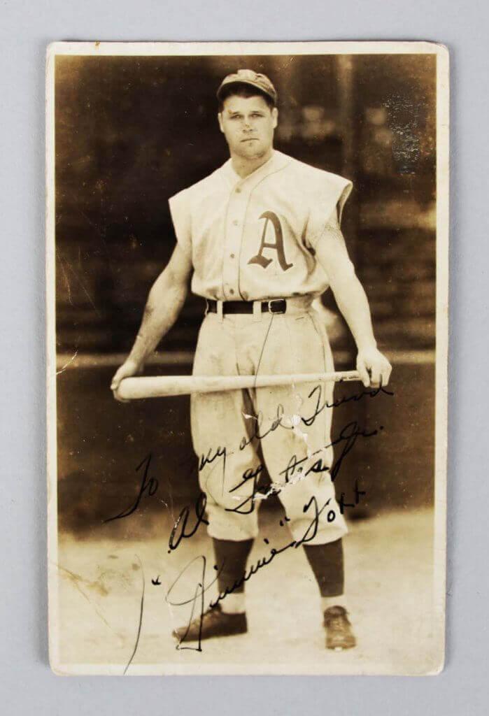 Philadelphia Athletics - Jimmie Foxx Signed George Burke Photo Postcard -  JSA Full LOA - Memorabilia Expert