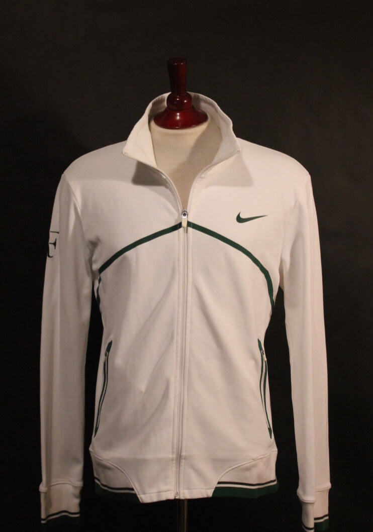 A Roger Federer Game Used Custom Nike Tennis Jacket 2011 Wimbledon Includes Signed Card Memorabilia Expert