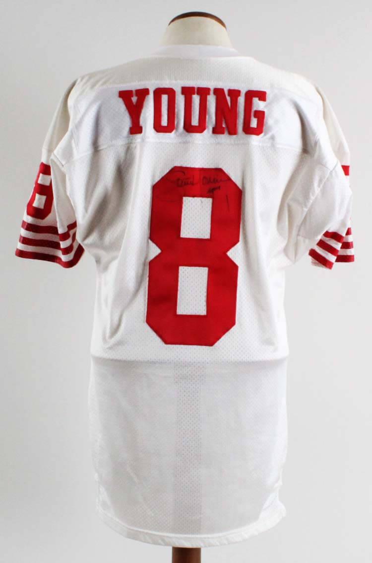 Steve Young Game-Worn, Signed San Francisco 49ers Jersey - COA 100% Team Graded 11/20, Player Letter, JSA