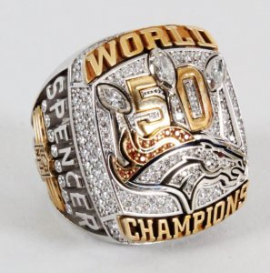 denver bronco super bowl ring