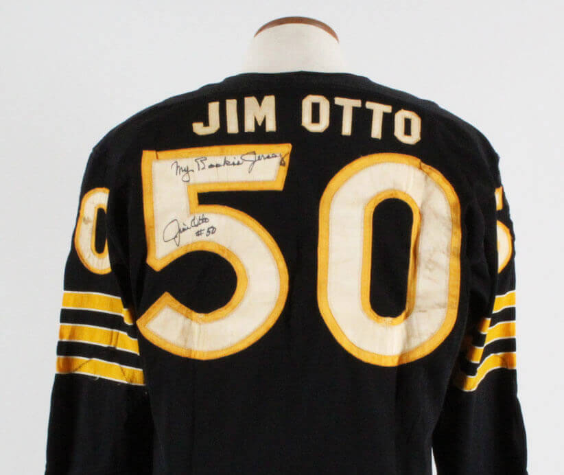 1960 Jim Otto Game-Worn, Signed Oakland Raiders Rookie Jersey - COA 100% Team