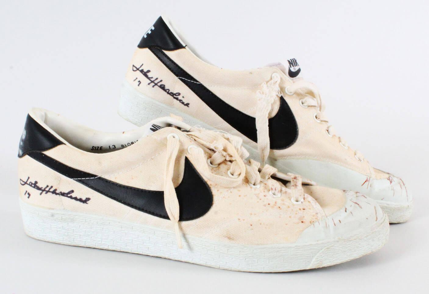 John Havlicek Game-Worn Signed Shoes