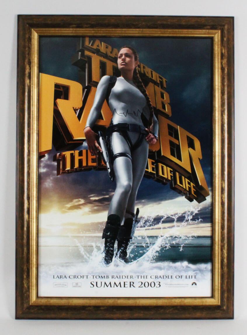 Angelina Jolie Signed Poster Tomb Raider Coa Jsa Memorabilia