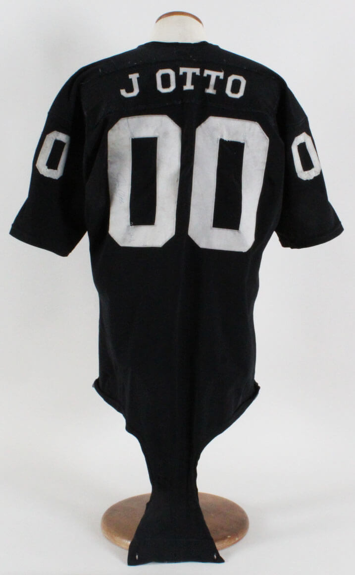 1969 -71 Jim Otto Game-Worn Raiders Jersey -Durene, Signed GRADE: 20/20 -100% Authentic Team & Player Letter