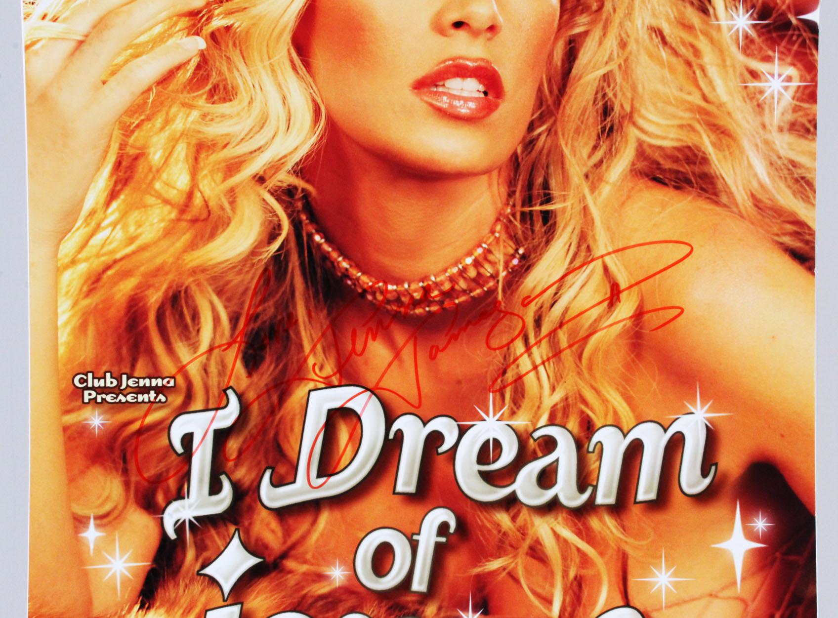 Jenna Jameson Signed Poster I Dream of Jenna - COA JSA