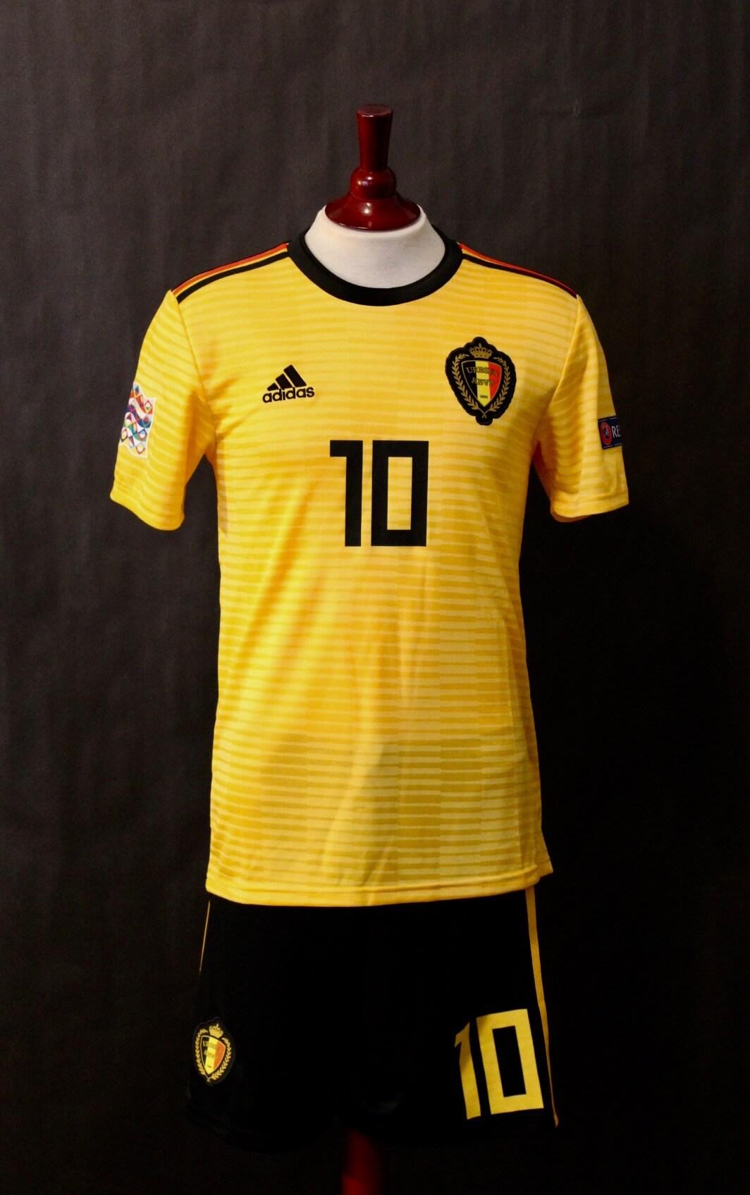 Eden Hazard Game Worn 10 Belgium National Team Away Shirt Shorts 2018 Uefa Nations League Memorabilia Expert