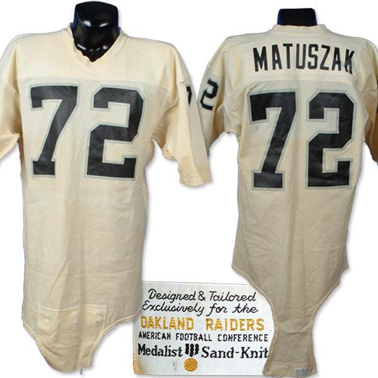 Late 1970's John Matuszak Raiders Game Worn Jersey.