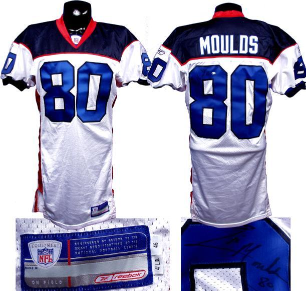 Eric Moulds Buffalo Bills Game Used Signed Jersey.