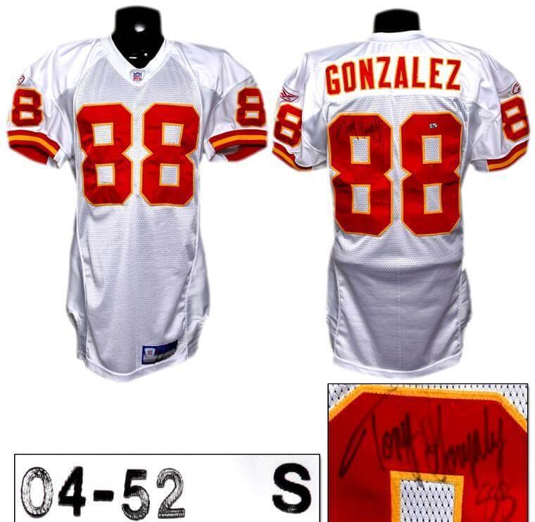 2004 Tony Gonzalez Game-Worn, Signed Jersey