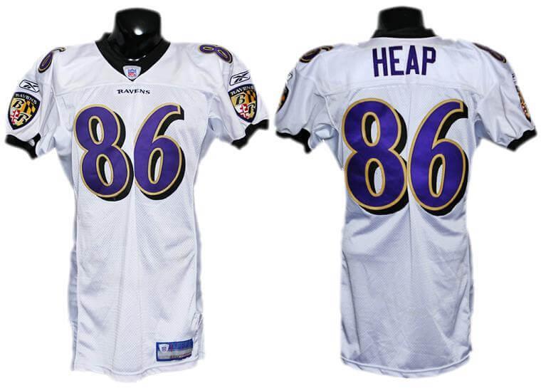 2003 Todd Heap Game-Worn Ravens Jersey