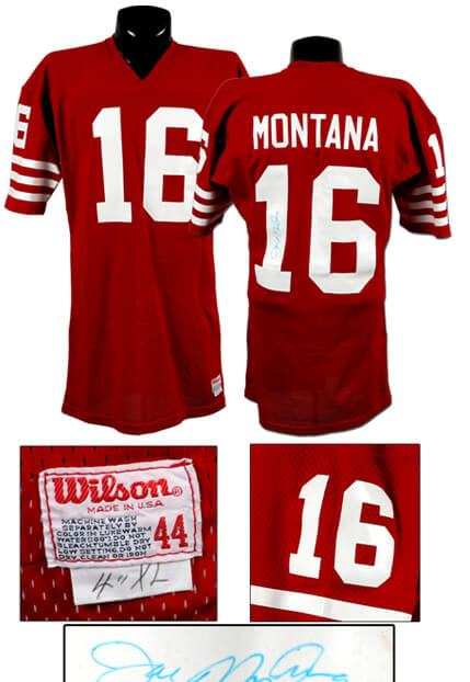 Early 1980s Joe Montana Game-Worn, Signed 49ers Jersey, Early Gamer