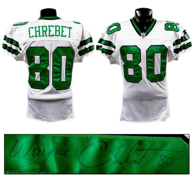 Mid '90s Wayne Chrebet Game-Worn, Signed Jets Jersey