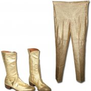 """Grand Wizard of Wrestling"" Ring-Worn Gold Lame Pants & Boots"