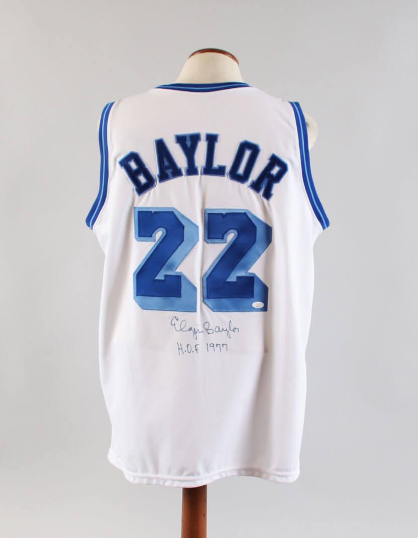 Elgin Baylor Signed Jersey Lakers - COA JSA