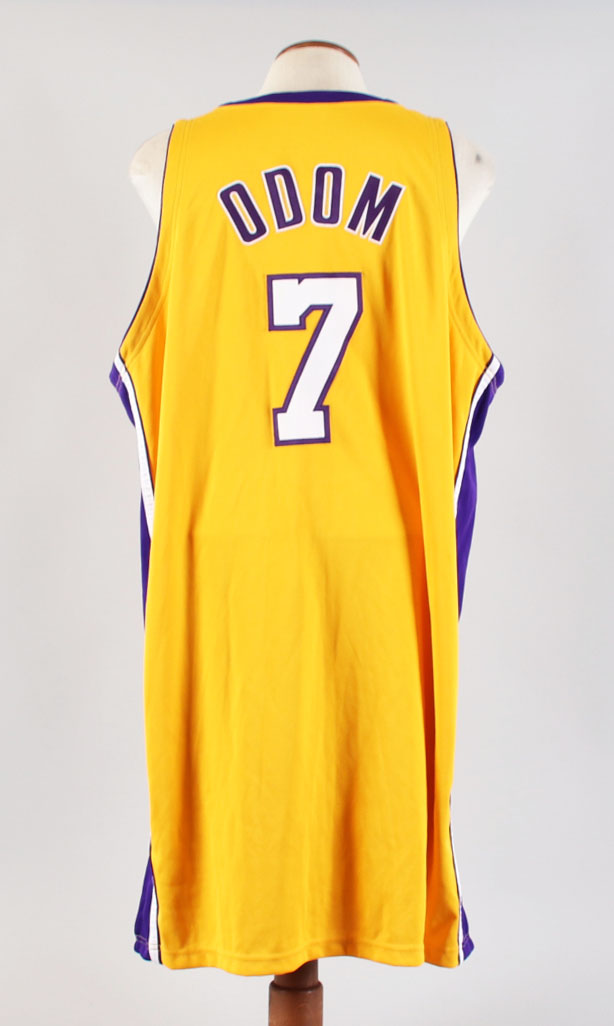2009-10 Lamar Odom Game-Worn Jersey Lakers COA 100% Authentic ...