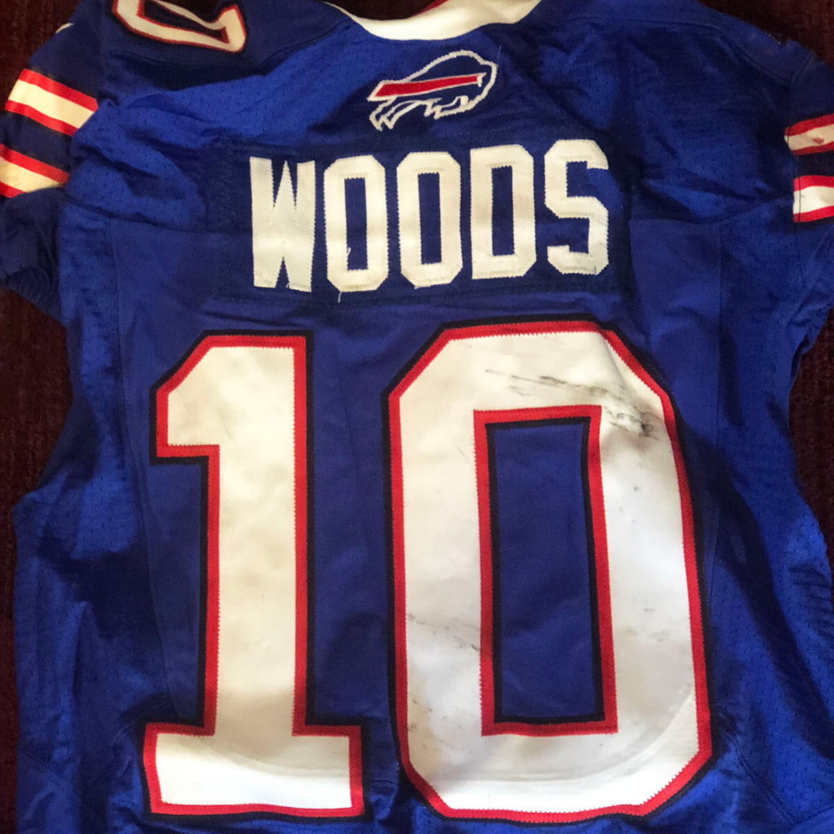 2014 Robert Woods Game-Worn Jersey Buffalo Bills 10/12 vs ...